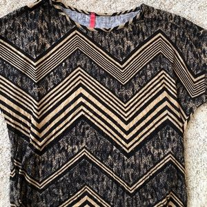 mm Tops - Brand New! Small! Brown and black casual shirt 💗